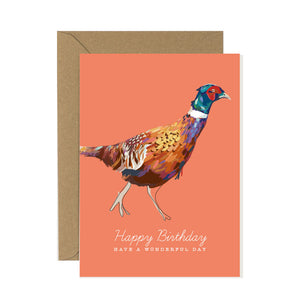 Pheasant Birthday Card
