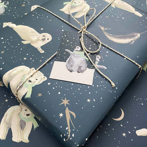 Polar Animals Wrapping Paper