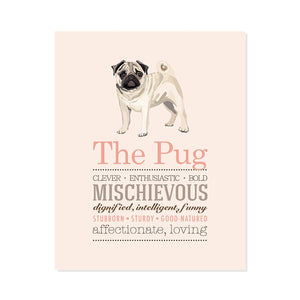 Pug Dog Breed Print