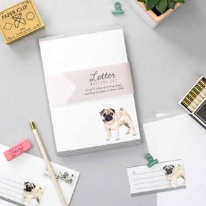 Pug Letter Writing Set