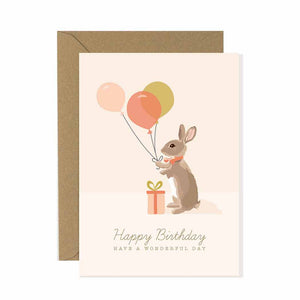 Rabbit Happy Birthday Card