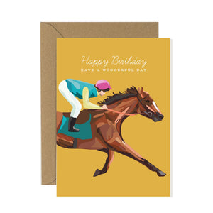 Racehorse Birthday Card