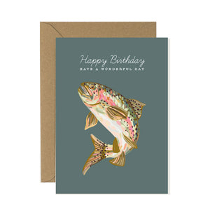 Rainbow Trout Birthday Card