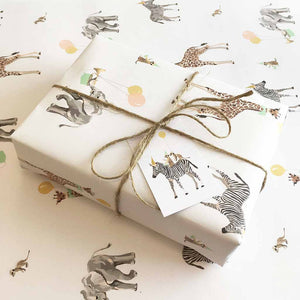 Safari Animals Wrapping Paper