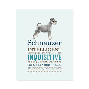 Schnauzer Dog Breed Print