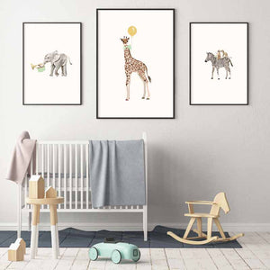 Set of 3 Safari Animal Prints