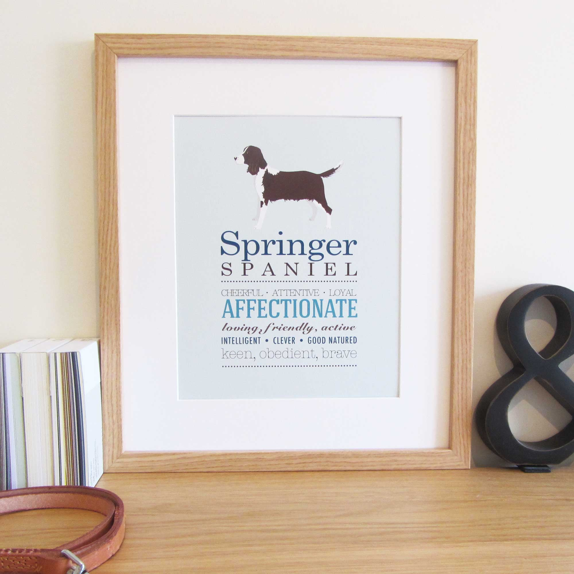 Springer Spaniel Dog Breed Print
