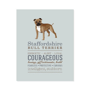Staffordshire Bull Terrier Dog Breed Print