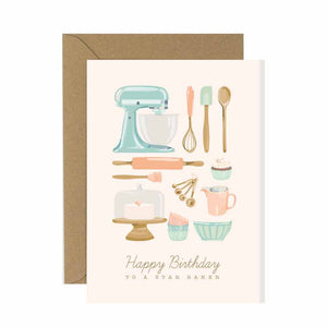 Star Baker Birthday Card