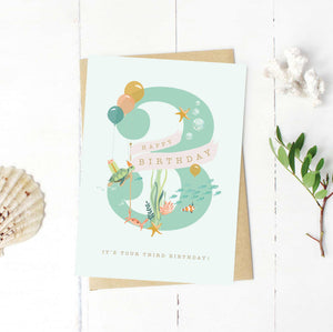 3rd Birthday Under The Sea Card