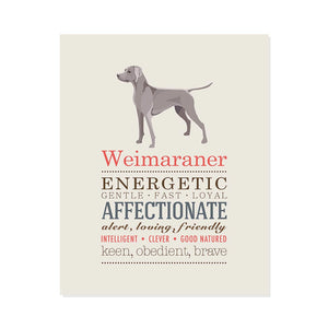 Weimaraner Dog Breed Print