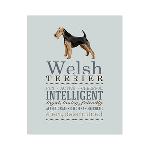 Welsh Terrier Dog Breed Print