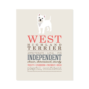 West Highland Terrier Dog Breed Print