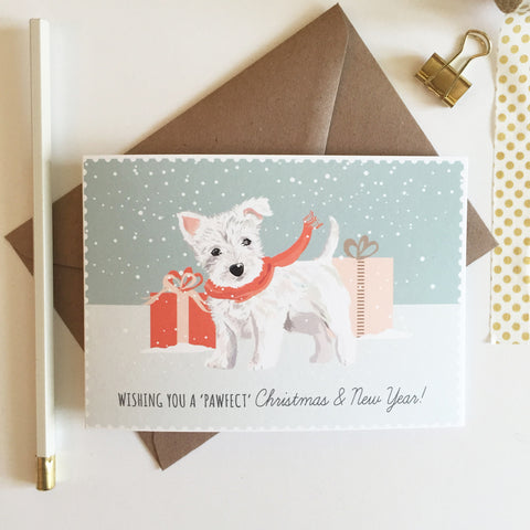 West Highland Terrier Pack of 8 Christmas Cards