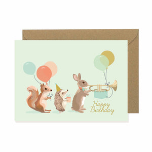 Woodland Parade Happy Birthday Card