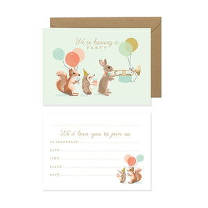 Woodland Parade Party Invites