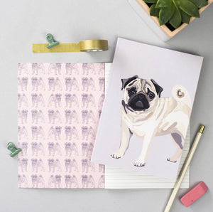 Set of 2 Pug Notebooks