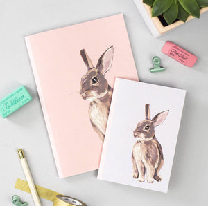 Set of 2 Rabbit Notebooks