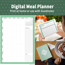 Load image into Gallery viewer, 2021 Bubble Green : Printable Meal Planner, iPad Planner, Goodnotes Planner, Digital Journal, Notability, Goodnotes Template
