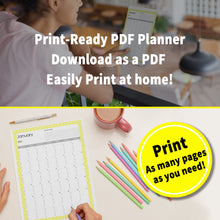 Load image into Gallery viewer, 2021 Bubble Yellow : Printable Meal Planner, iPad Planner, Goodnotes Planner, Digital Journal, Notability, Goodnotes Template