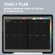 Load image into Gallery viewer, MoonLightBlack : Rainbow Digital Planner, iPad Planner, Goodnotes Planner, Undated Digital Journal, Notability, Goodnotes Template, Diary