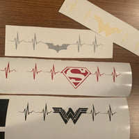 Heartbeat of a Superhero Vinyl Decal