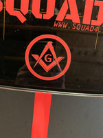 Freemason Square and Compass Vinyl Decal
