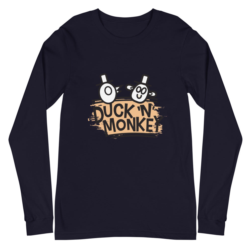 Duck 'n' Monkey Peach Unisex Long Sleeve Tee - [Duck 'n' Monkey]