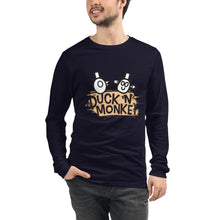 Load image into Gallery viewer, Duck 'n' Monkey Peach Unisex Long Sleeve Tee - [Duck 'n' Monkey]