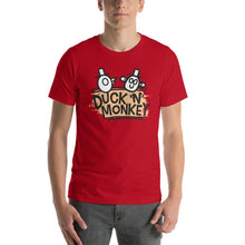 Load image into Gallery viewer, Duck 'n' Monkey Peach Short-Sleeve Unisex T-Shirt - [Duck 'n' Monkey]