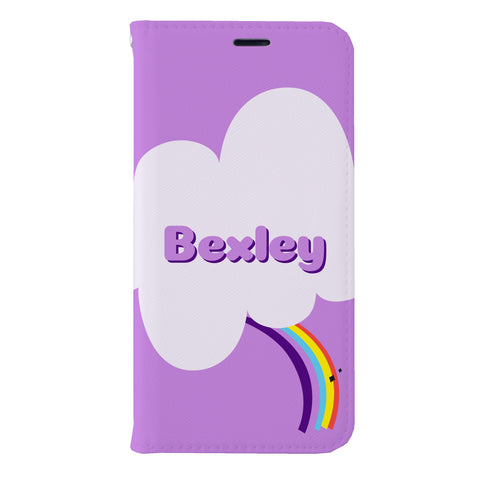 Bexley Purple Unicorn Leather Wallet Case