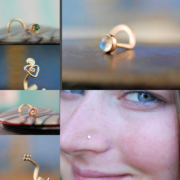 Gold Nose Studs