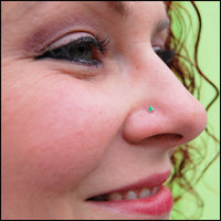 2mm emerald nose jewelry