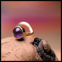 Amethyst in Gold Nose Stud
