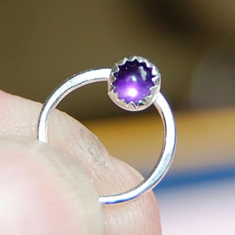 amethyst septum ring