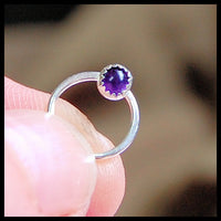 Amethyst Septum or Nose Ring