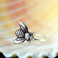 Little Bee Nose Ring in Solid Sterling Silver