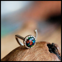 black opal nose pin