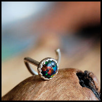 black opal nose ring