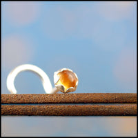 dainty citrine nose stud in sterling silver