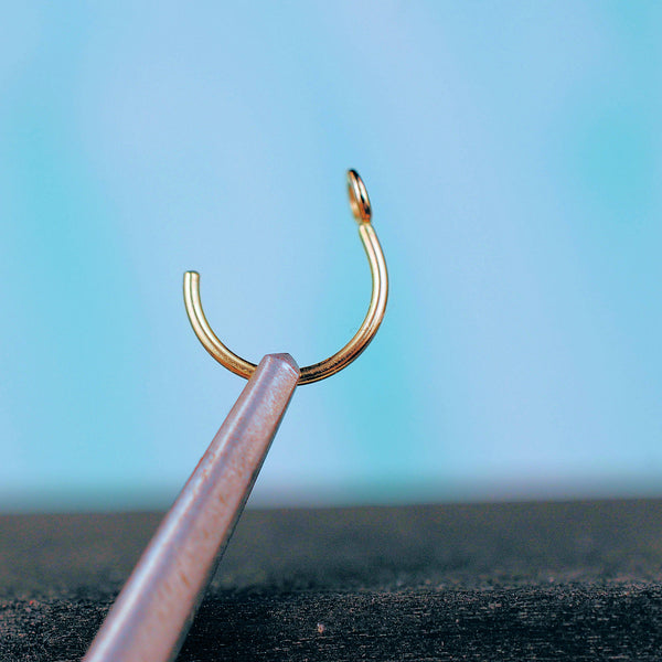 The Enhancer in Gold - Turn Your Stud into a Nose Ring