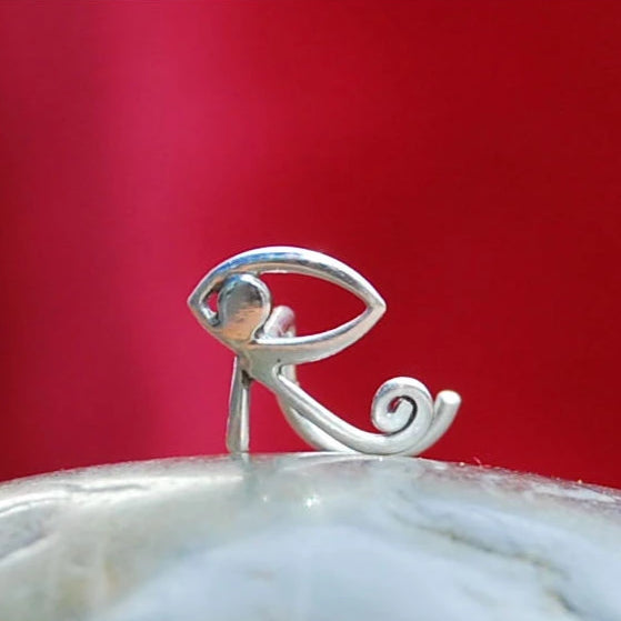 Eye of Horus Ra Sterling Silver Nose Stud