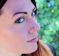 925 silver nose stud