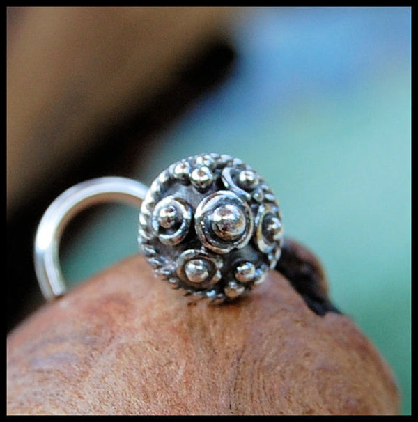 sterling silver filigree nose stud