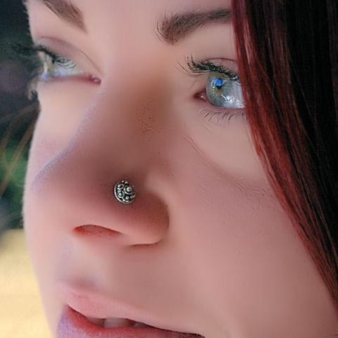 Silver Indian Nose Stud