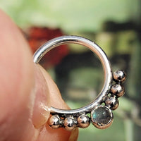 sterling silver labradorite septum jewelry