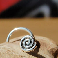 Medium Spiral Nose Stud