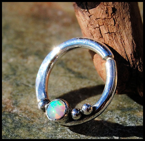 Opal Septum Ring Nose Ring