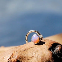 pink opal and sterling silver nose jewelry