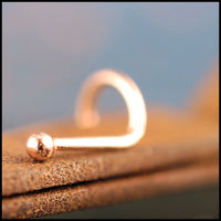 dainty rose gold nose stud